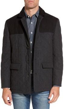 Hart Schaffner Marx Men's 'Shooter' Wool Blend Quilted Jacket