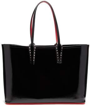 Christian Louboutin Cabata Patent Leather Tote - Womens - Black