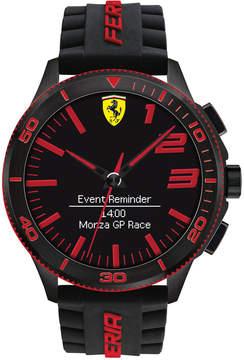 Ferrari Men's Analog-Digital Scuderia Xx Ultraveloce Black Silicone Strap Smart Watch 48mm 0830375