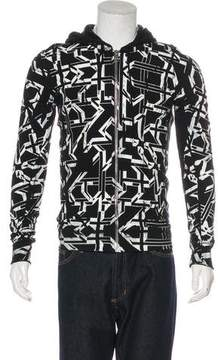 Christian Dior 2007 Graphic Print Zip-Up Sweater