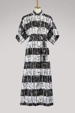 Kenzo Cotton long Hawaian dress