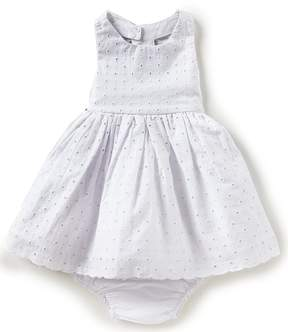 Rare Editions Baby Girl 12-24 Months Eyelet Bow Back Fit-And-Flare Dress