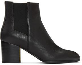 Jil Sander Navy Black Treben Boots