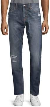 Jean Shop Men's Distressed Cotton Jeans