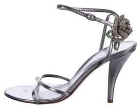 Sergio Rossi Embellished Metallic Sandals