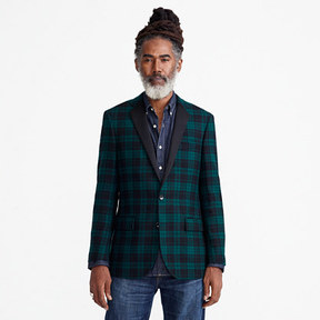 J.Crew Ludlow Slim-fit jacket in dark green tartan wool