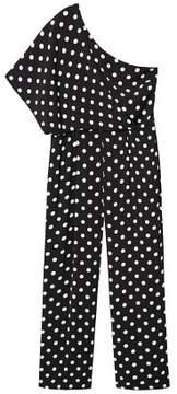 Violeta BY MANGO Polka dots asymmetric jumpsuit