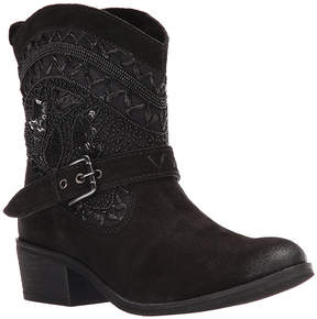 Naughty Monkey Black Decora Leather Boot