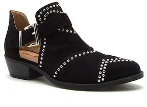 Qupid Sochi Stud Trim Side Buckle Booties