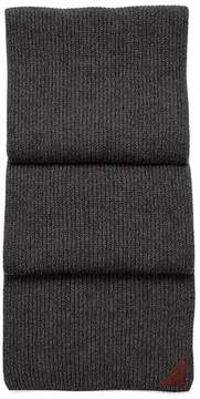 Aspinal of London | Rib Knit Cashmere Blend Scarf In Charcoal | Charcoal grey cashmere blend