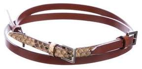 Dolce & Gabbana Leather Snakeskin Belt