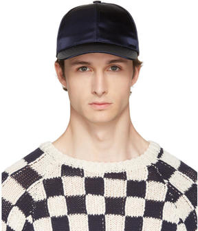 Acne Studios Navy Camp Bomber Cap