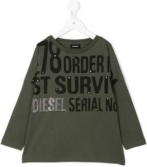 Diesel printed long sleeve shirt