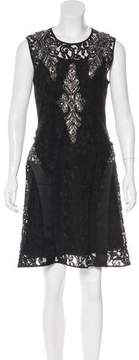 Alberta Ferretti Embellished Lace Dress