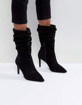 Dune London High Rise Slouch Heeled Ankle Boot