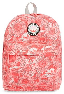 Billabong Girl's Play Date Canvas Backpack - Coral