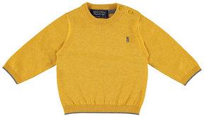 Mayoral Cotton Crewneck Pullover Sweater, Orangey, Size 6-36 Months