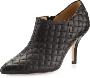 Neiman Marcus Koren Quilted Leather Bootie, Black