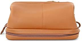 Royce Leather Executive Toiletry Travel Wash Bag - Tan