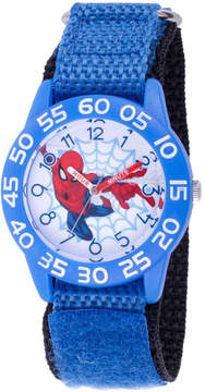 Marvel Spiderman Boys Blue Strap Watch-Wma000180