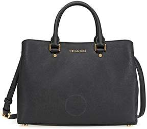Michael Kors Savannah Saffiano Leather Satchel- - Black - ONE COLOR - STYLE