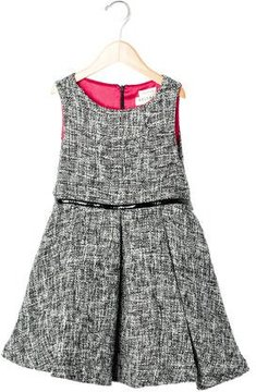 Helena Girls' Tweed Knit A-Line Dress