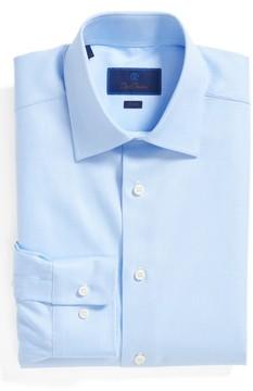 David Donahue Men's Trim Fit Dress Shirt