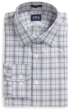 John W. Nordstrom Men's Trim Fit Plaid Dress Shirt