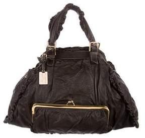 Dolce & Gabbana Leather Ruffle Bag