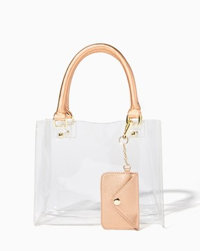 Charming charlie Game Day Clear Stadium Crossbody
