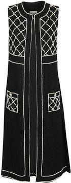 Edward Achour Pearl Embellished Cardi-coat