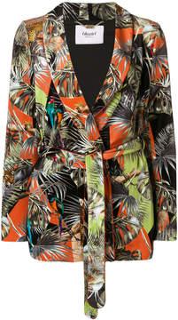 Blugirl floral belted fitted jacket