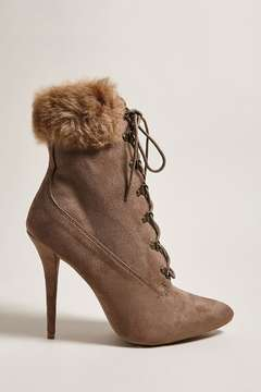 Forever 21 Faux Suede Stiletto Boots