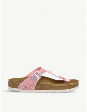 Birkenstock Thong glittered faux-leather sandals