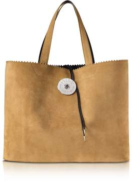 Maison Margiela Camel Suede Leather and Paper Tote Bag