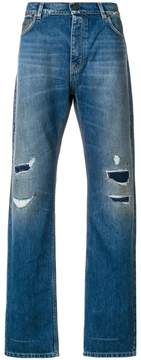 Kent & Curwen distressed straight-fit jeans
