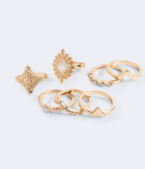 Aeropostale Etched Ring 7-Pack