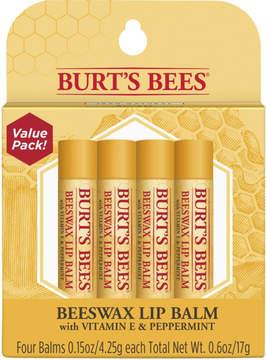 Burt's Bees Beeswax Lip Balm 4 Tubes