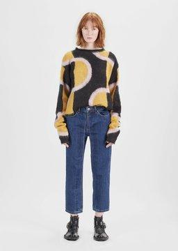 Aalto Fixed Pleats Straight Jeans 90's Blue Size: FR 36