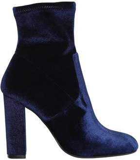 Steve Madden 100mm Editt Stretch Velvet Ankle Boots