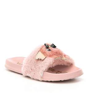 Sam Edelman Girls' Mackie Furry Slides
