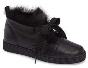 Pedro Garcia Women's Parley Genuine Shearling & Leather Sneaker