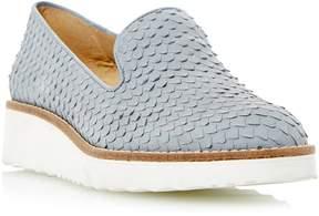 Dune London GARNISH - GREY Slip-on Cut Flatform Shoe