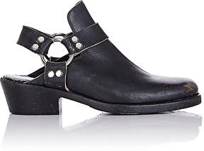 Balenciaga Men's Harness-Strap Leather Mules