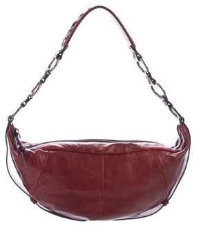 Saint Laurent Distressed Leather Shoulder Bag