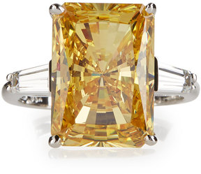 FANTASIA Emerald-Cut Canary Crystal Cocktail Ring