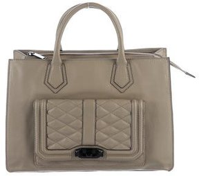 Rebecca Minkoff Pebbled Leather Tote - NEUTRALS - STYLE