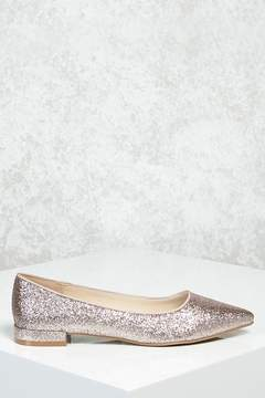 Forever 21 Glitter Pointed Toe Flats