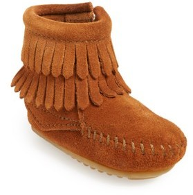 Minnetonka Infant Girl's Double Fringe Moccasin