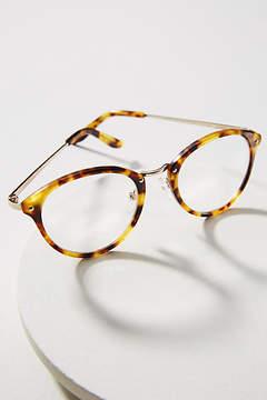 Anthropologie Eloise Tortoise Round Reading Glasses